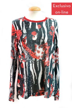 Camiseta de cuello tricotado coleccion Zebra